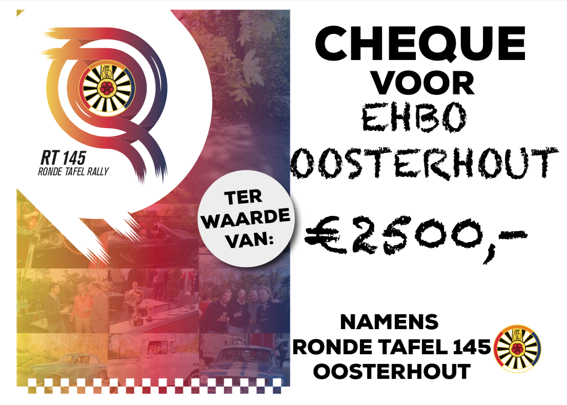 Cheque Rally 2019 EHBO Oosterhout