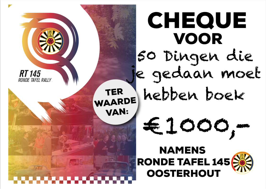Cheque Rally 2019 50 dingen